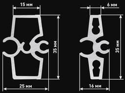 Алюминиевый профиль для гнутых фасадов