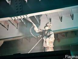 Антикоррозийная огнезащитная обработка металлоконструкций