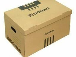 Архивный короб, 545x363x317мм, картон, коричневый Donau, PBS
