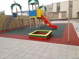 Бесшовное резиновое покрытие для детских и спортивных площад