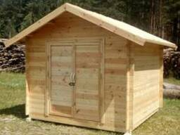 Блок хозяйственный деревянный