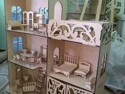 Большой кукольный домик для кукол Барби мебель