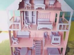 Большой кукольный домик мебель