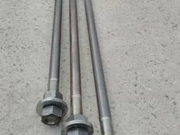 Болты фундаментные тип 1. 1 с загибом М 24, М36 сталь любая