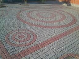 Брусчатка тротуарная Полукруг в прямоугольнике - фото 3