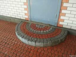Брусчатка тротуарная Полукруг в прямоугольнике - фото 7