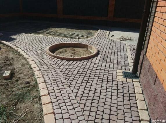 Брусчатка тротуарная Прямолинейный пласт