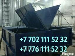 Бункер для мусора с крышкой 8м3, Толщина стенки 3мм