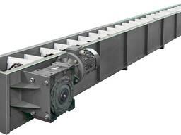 Цепной конвейер транспортер для зерна и сыпучих материалов