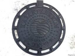 Чугунные люки канализационного колодца на шарнире с запорным