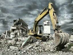 Демонтаж жб конструкций, разработка грунта
