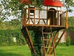Детский деревянный игровой домик на дереве