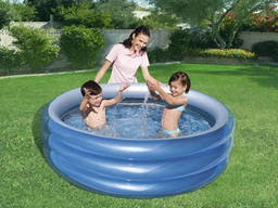 Детский надувной бассейн Big Metallic 201 х 53 см, Bestway