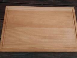 Доски разделочные, прямоугольные деревянные (бук).