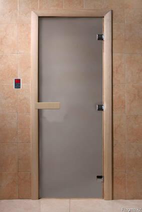 Дверь для бани, сауны — матовая бронза