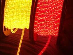 Дюралайт круглый 2-х жильный LED. Цвет: красный, желтый