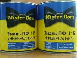 """Эмаль ПФ-115 """"Mister Dom"""" унивесальная"""