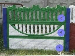 Евро-забор, декоративные бетонные ограждения, забор - фото 3