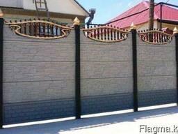 Евро-забор, декоративные бетонные ограждения, забор - фото 5