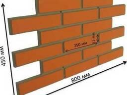 """Фасадная облицовочная бетонная панель - """"облицовочный кирпич"""