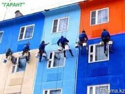 Фасадные работы ( покраска, керамгранит, травертин. )