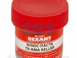 Флюс для пайки Rexant, паста TR-RMA Keller, 20 мл, банка
