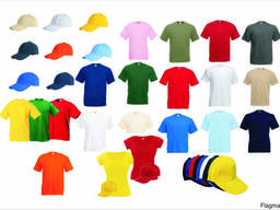 Футболка и кепка для нанесения логотипа