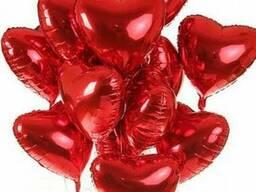 Гелиевые шары ко дню всех влюбленных