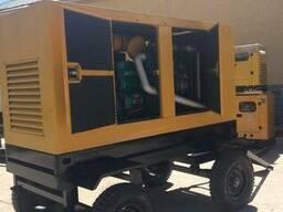 Генератор дизельный передвижной в тихом кожухе c АВР - фото 1
