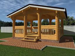 Изготовление домов, бань, беседок из оцилиндрованного бревна