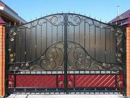 Ворота ковка и поликарбонат