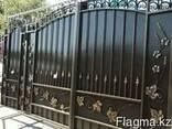 Изготовление металлических ворот с калиткой - фото 1
