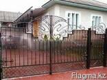 Изготовление металлических ворот с калиткой - фото 4