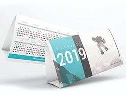 Изготовление настольных календарей!!