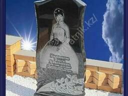 Изготовление памятников из черного гранита. Любых размеров. - фото 3