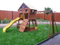 Качели садовые деревянные детские