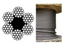Канаты одинарной свивки спиральные 3x0.65x0.6 мм ТК ГОСТ 306