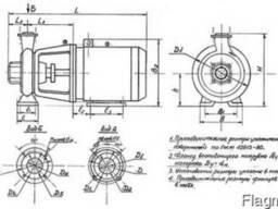 КМ80-50-200 с двигателем 15/3000