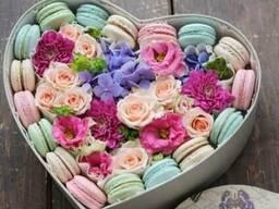 Конфетно-цветочные букеты, оригинальные подарки
