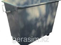 Контейнеры для мусора 1,1 куб. с колесами, евроконтейнер