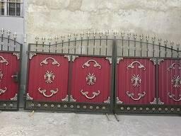 Кованные и ажурные ворота с калиткой