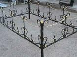Кованые ритуальные ограды - фото 2