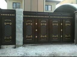 """Кованые ворота и калитка """" Авангард""""- 240. 000."""