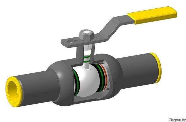 Кран шаровый DN65 PN25 МПА под приварку стальной