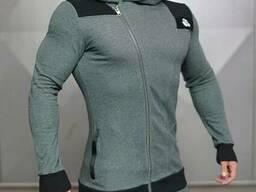 Куртка с косым замком Body Engineers серая