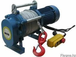 Лебедка электрическая KCD 1000кг канат 100м
