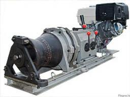 Лебедка тяговая бензиновая ЛТБ-5 (КВТ) для работ по монтажу