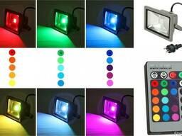 LED прожектора RGB, прожектор на контроллере, разноцветный п