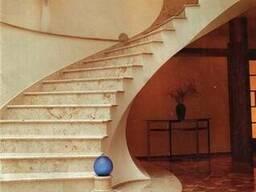 Лестницы: ступени, балясины и перила из мрамора гранита