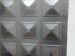 Лист металлический -пирамидка-для ворот